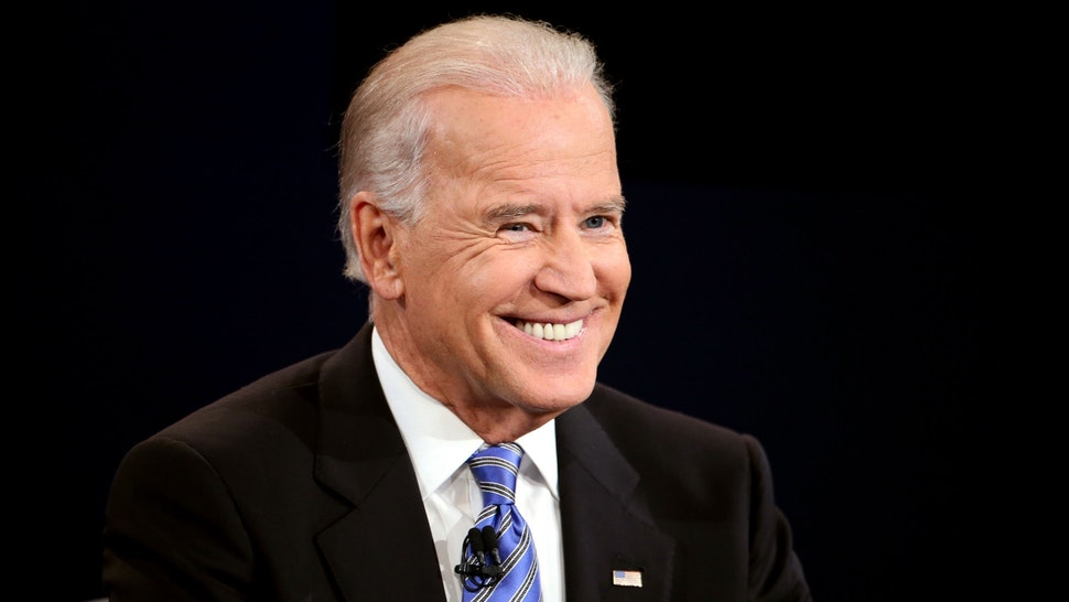 U.S. Vice President Joe Biden smiles during the vice presidential debate at Centre College October 11, 2012 in Danville, Kentucky.