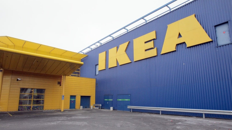 View of the Ikea store in Roissy-en-France, north of Paris, as workers of the Swedish furniture designer Ikea hold a national strike calling for higher wages.