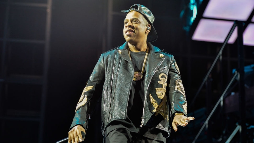 Jay Z performs on stage at Air Canada Centre during his Magna Carter World Tour on January 27, 2014 in Toronto, Canada.