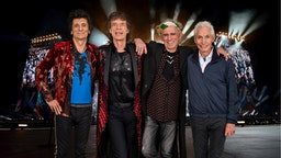 An exclusive image of The Rolling Stones taken on October 25th 2017 in Paris.