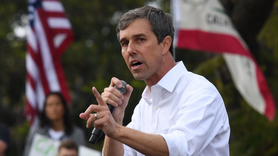 Democratic US presidential candidate Beto O'Rourke speaks to supporters during a campaign rally at the start of his four-day visit to the state, in Los Angeles, California, on April 27, 2019.