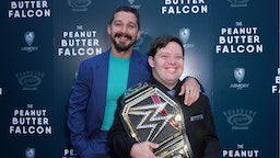 Actors Shia LaBeouf (L) and Zack Gottsagen attend the LA Special Screening of Roadside Attractions' 'The Peanut Butter Falcon' at ArcLight Hollywood on August 01, 2019 in Hollywood, California.