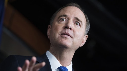 House Intelligence Committee Chairman Adam Schiff, D-Calif., conducts a news conference in the Capitol Visitor Center on the transcript of a phone call between President Trump and Ukrainian President Volodymyr Zelensky on Wednesday, September 25, 2019.