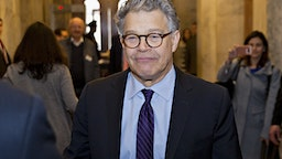 Senator Al Franken, a Democrat from Minnesota, walks through the U.S. Capitol before speaking on the Senate floor in Washington, D.C., U.S., on Thursday, Dec. 7, 2017. Frankenannounced Thursday hell resign to end the turmoil over allegations that he groped or tried to forcibly kiss several women after more than half of his Democratic colleagues demanded he step down to make clear that mistreatment of women is unacceptable.