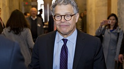 Senator Al Franken, a Democrat from Minnesota, walks through the U.S. Capitol before speaking on the Senate floor in Washington, D.C., U.S., on Thursday, Dec. 7, 2017. Franken announced Thursday hell resign to end the turmoil over allegations that he groped or tried to forcibly kiss several women after more than half of his Democratic colleagues demanded he step down to make clear that mistreatment of women is unacceptable.