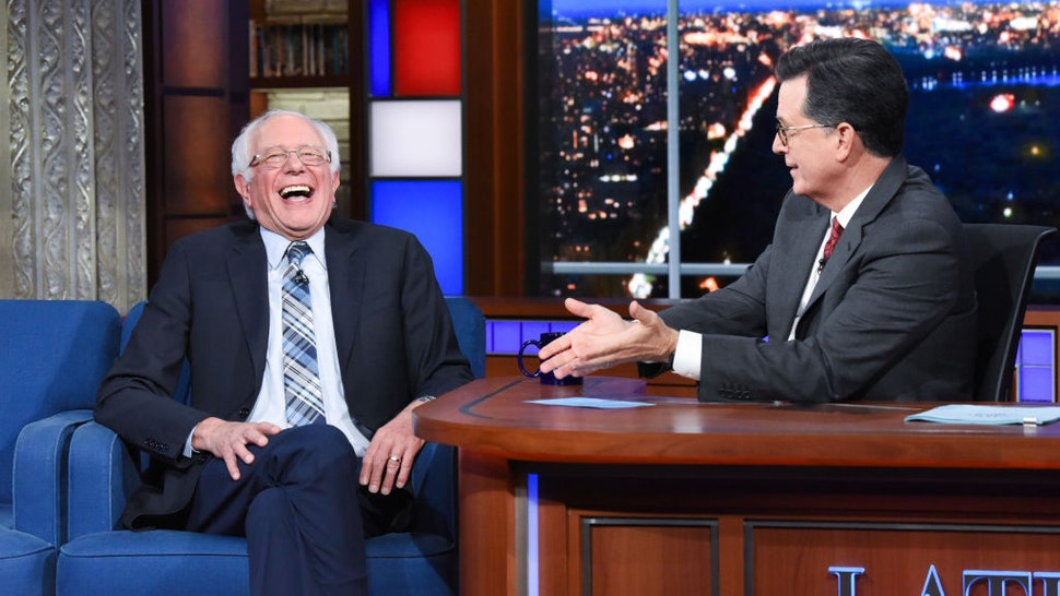 The Late Show with Stephen Colbert and guest Sen. Bernie Sanders during Thursday's September 26, 2019 show