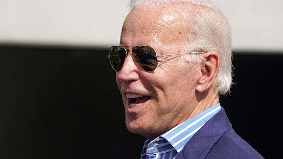 MANHATTAN BEACH, CA - SEPTEMBER 25: Presidential candidate Joe Biden leaves a private fundraiser at a home in Manhattan Beach on Wednesday, Sep. 25, 2019.