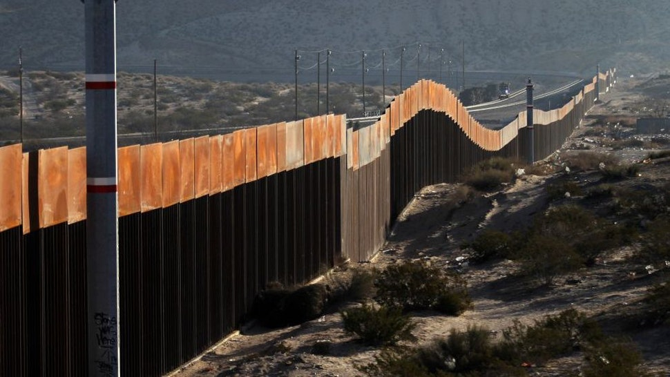 A view of the border wall between Mexico and the United States, in Ciudad Juarez, Chihuahua state, Mexico on January 19, 2018. The Mexican government reaffirmed on January 18, 2018 that they will not pay for US President Donald Trump's controversial border wall and warned that the violence in Mexico is also the result of the heavy drug consumption in the United States.