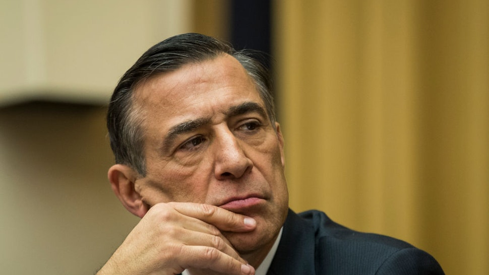 Rep. Darrell Issa (R-CA) listens during a House Judiciary Subcommittee hearing on the proposed merger of CVS Health and Aetna, on Capitol Hill, February 27, 2018 in Washington, DC. (Drew Angerer/Getty Images)