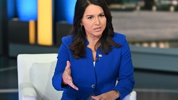"Democratic Presidential Candidate Tulsi Gabbard visits ""FOX & Friends"" at Fox News Channel Studios on September 24, 2019 in New York City"