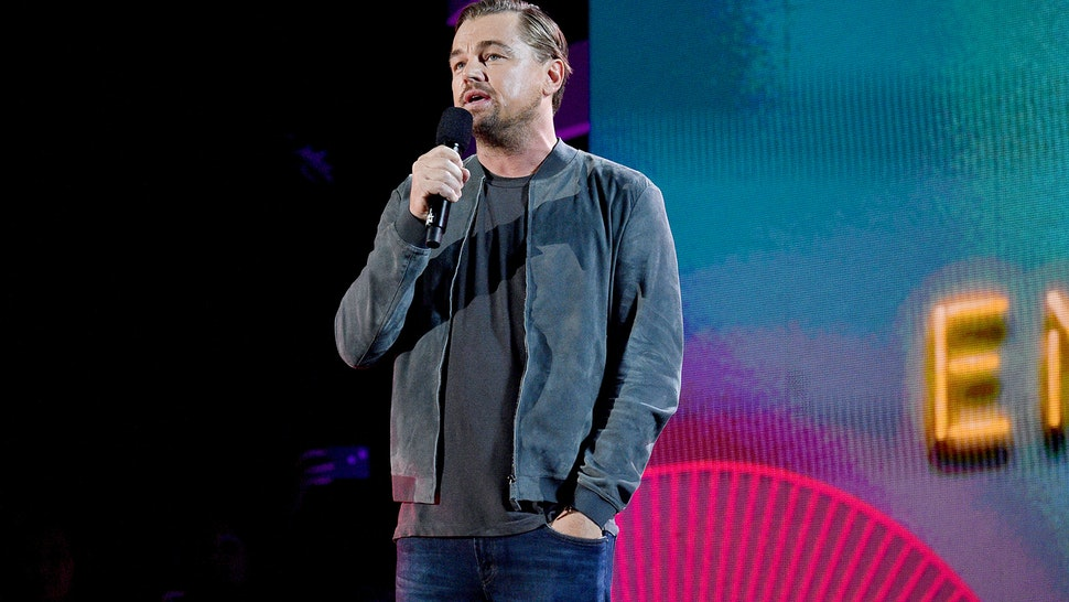 NEW YORK, NEW YORK - SEPTEMBER 28: Leonardo DiCaprio speaks onstage during the 2019 Global Citizen Festival: Power The Movement in Central Park on September 28, 2019 in New York City.