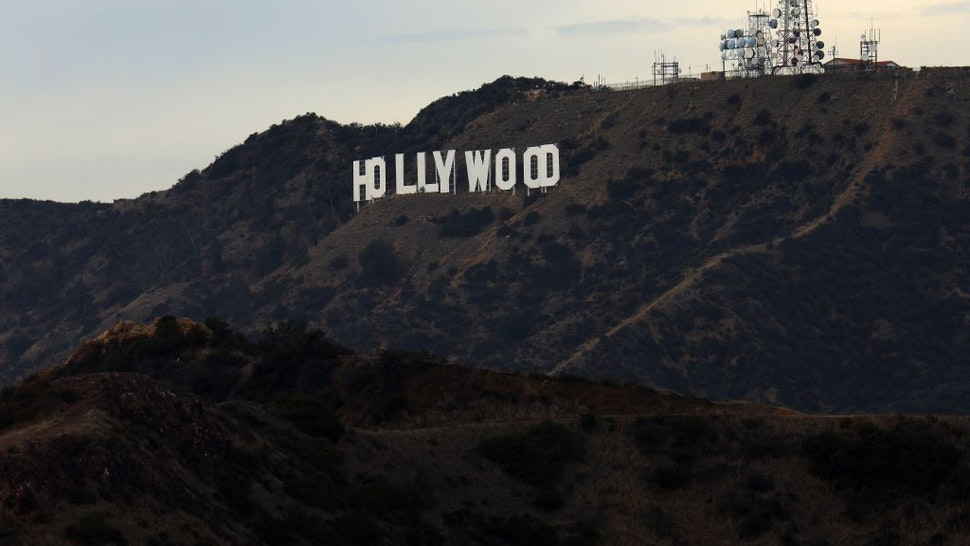 homas Fisk Goff's famous 'Hollywood Sign' atop Mount Lee in the Hollywood Hills area of the Santa Monica Mountains photographed from the Griffith Observatory in Los Angeles, California on January 15, 2018.