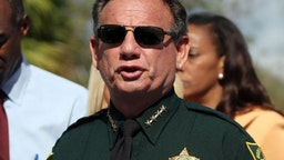 Broward County Sheriff Scott Israel speaks during a news conference on Thursday, Feb. 15, 2018, near Marjory Stoneman Douglas High School in Parkland.