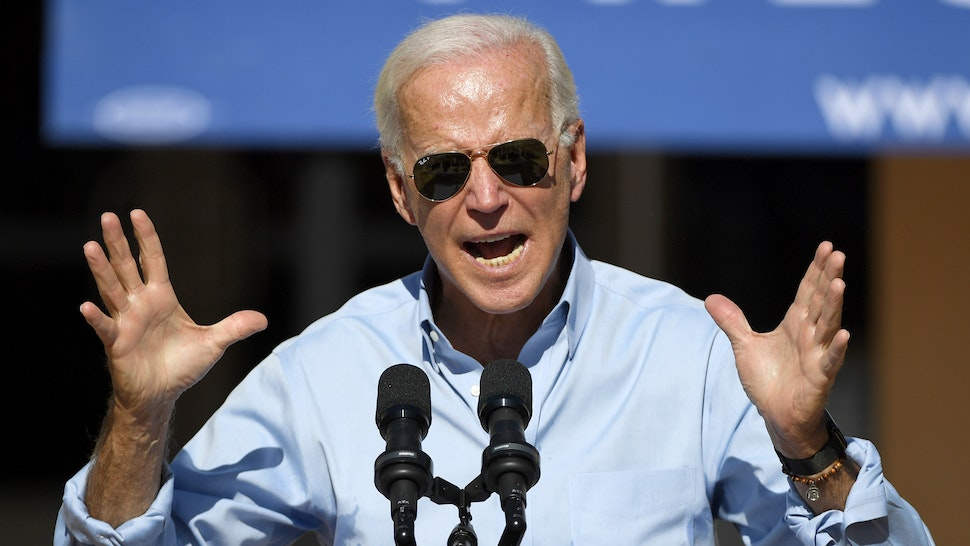 Democratic presidential candidate and former U.S. Vice President Joe Biden speaks to voters at the East Las Vegas Community Center on September 27, 2019 in Las Vegas, Nevada. Biden is still the front-runner in most national polls but his lead over U.S. Sen. Elizabeth Warren is narrowing.