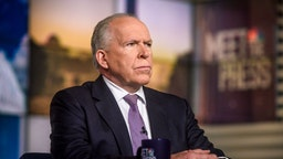 "John Brennan, Former CIA Director; NBC News Senior National Security and Intelligence Analyst, appears on ""Meet the Press"" in Washington, D.C., Sunday, April 15, 2018. (Photo by: William B. Plowman/NBC/NBC NewsWire via Getty Images)"
