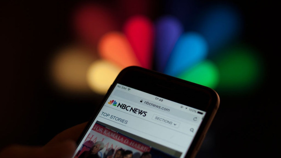The NBC news app is seen on a smartphone in this photo illustration on December 5, 2017. (Photo by Jaap Arriens/NurPhoto)
