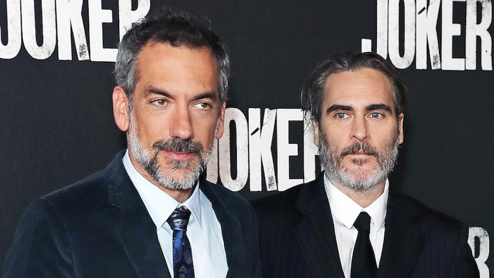 "LONDON, ENGLAND - SEPTEMBER 25: Todd Phillips (L) and Joaquin Phoenix attend a special screening of ""Joker"" at Cineworld Leicester Square on September 25, 2019 in London, England. (Photo by David M. Benett/Dave Benett/WireImage )"