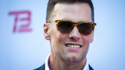 BOSTON, MA - SEPTEMBER 17: New England Patriots quarterback Tom Brady poses during the TB12 Grand Opening Event at the TB12 Performance & Recovery Center in Boston on Sep. 17, 2019.