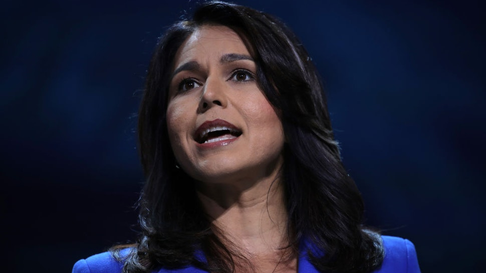 Rep. Tulsi Gabbard (D-HI) speaks during the California Democrats 2019 State Convention at the Moscone Center on June 01, 2019 in San Francisco, California.