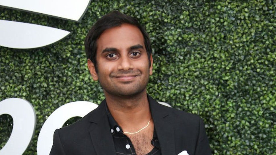 Aziz Ansari attends day 6 of the 2018 tennis US Open on Arthur Ashe stadium at the USTA Billie Jean King National Tennis Center on September 1, 2018 in Flushing Meadows, Queens, New York City.