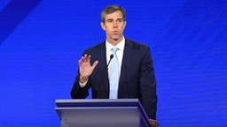 Democratic presidential hopeful former Texas Representative Beto O'Rourke speaks during the third Democratic primary debate of the 2020 presidential campaign season hosted by ABC News in partnership with Univision at Texas Southern University in Houston,