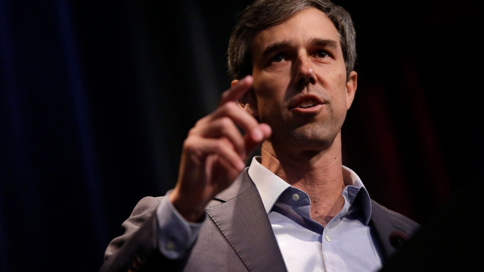 Beto O'Rourke speaks at the Iowa Federation Labor Convention on August 21, 2019