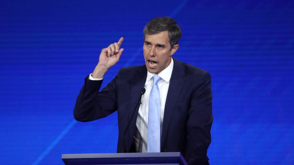 Democratic presidential candidate former Texas congressman Beto O'Rourke speaks during the Democratic Presidential Debate at Texas Southern University's Health and PE Center on September 12, 2019 in Houston, Texas.
