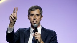 Beto O'Rourke, former Representative from Texas and 2020 Democratic presidential candidate, speaks during a Presidential Candidate Forum at the 110th NAACP Annual Convention in Detroit, Michigan, U.S., on Wednesday, July 24, 2019. The leading Democratic candidates made their case to the NAACP National Convention on Wednesday, as they compete for a voting bloc that accounts for 20% of the party's voters and is crucial to winning the presidential nomination. Photographer: