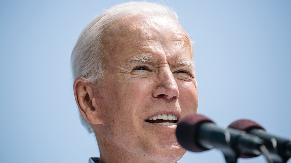 """Former U.S. Vice President Joe Biden, 2020 Democratic presidential candidate, speaks during a campaign rally in Philadelphia, Pennsylvania, U.S., on Saturday, May 18, 2019. Bidentold voters that he would lead the country """"to stop fighting and start fixing"""" if elected president, striking a contrast with the current occupant of the White House and with many of the other Democrats hoping to win their party's nomination."""