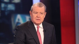 Stuart Varney reports on the stock market opening a day after a 500+ point sell off at FOX Studios on August 5, 2011 in New York City.