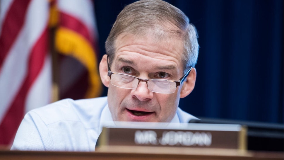 """Ranking member Rep. Jim Jordan, R-Ohio, attends a House Oversight and Reform Committee hearing in Rayburn Building titled """"The Trump Administration's Response to the Drug Crisis, Part II,"""" on Thursday, May 9, 2019."""