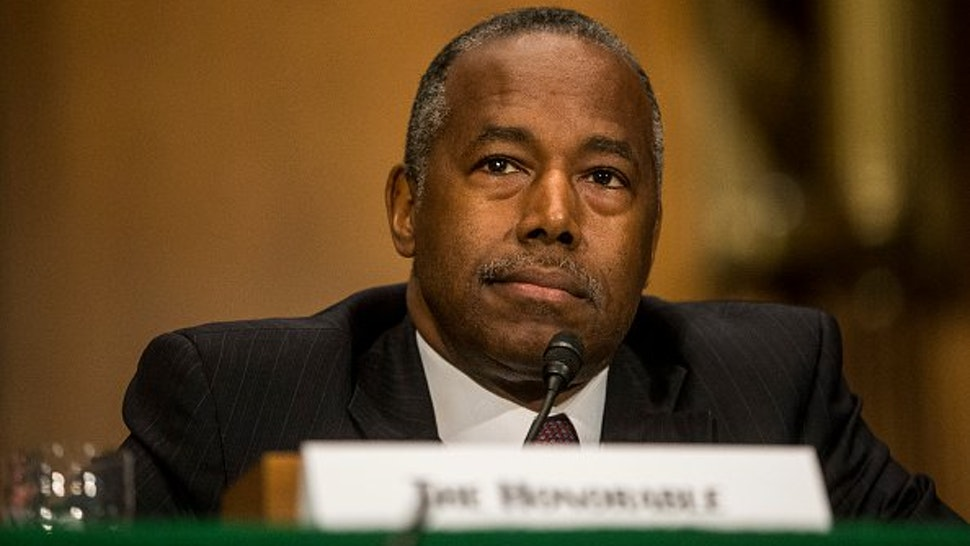 Housing and Urban Development Secretary Ben Carson testifies during a Senate Banking, Housing, and Urban Affairs Committee hearing on September 10, 2019 in Washington, DC.