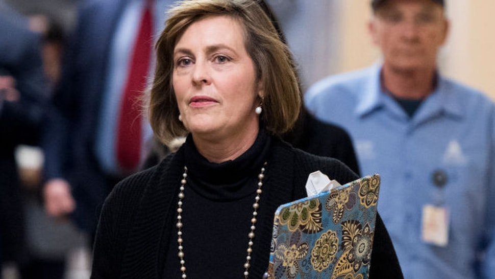 UNITED STATES - NOVEMBER 15: Rep. Kathy Castor, D-Fla., arrives for the House Democrats' caucus meeting in the Capitol on Thursday, Nov. 15, 2018.