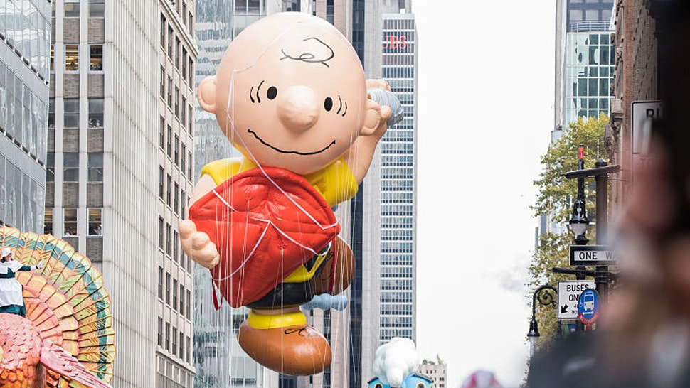 NEW YORK, NY - NOVEMBER 24: Charlie Brown balloon is seen at the 90th Annual Macy's Thanksgiving Day Parade on November 24, 2016 in New York City.