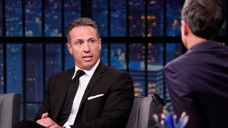 CNN's Chris Cuomo during an interview with host Seth Meyers on August 1, 2019.