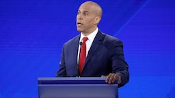 Cory Booker participates in the 2020 Democratic primary debate on ABC