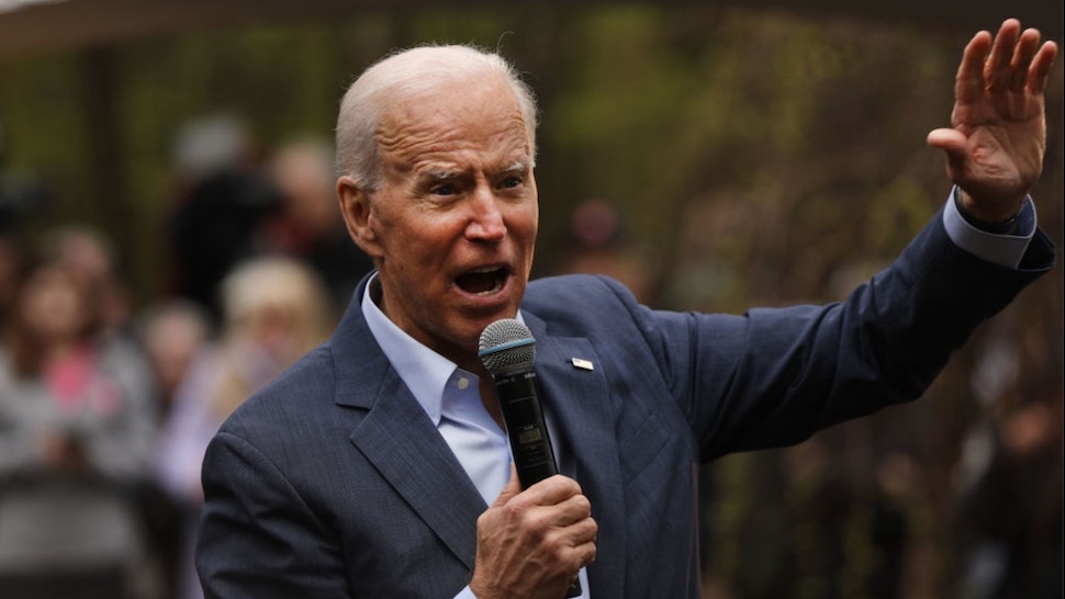 Former Vice President and Democratic Presidential candidate Joe Biden speaks to voters on May 14, 2019 in Nashua, New Hampshire.