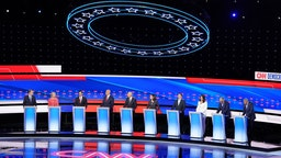 20 Democratic presidential candidates were split into two groups of 10 to take part in the debate sponsored by CNN