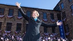 Sen. Elizabeth Warren (D-MA), announces her official bid for President on February 9, 2019 in Lawrence, Massachusetts.