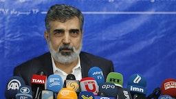 Iranian official Behrouz Kamalvandi.