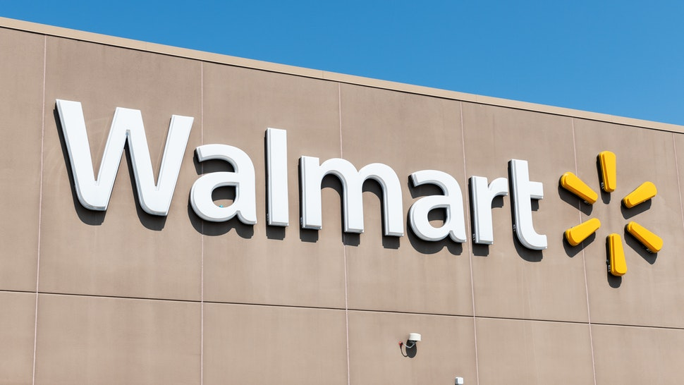 TETERBORO, NJ, UNITED STATES - 2018/08/05: Walmart store in Teterboro, New Jersey.