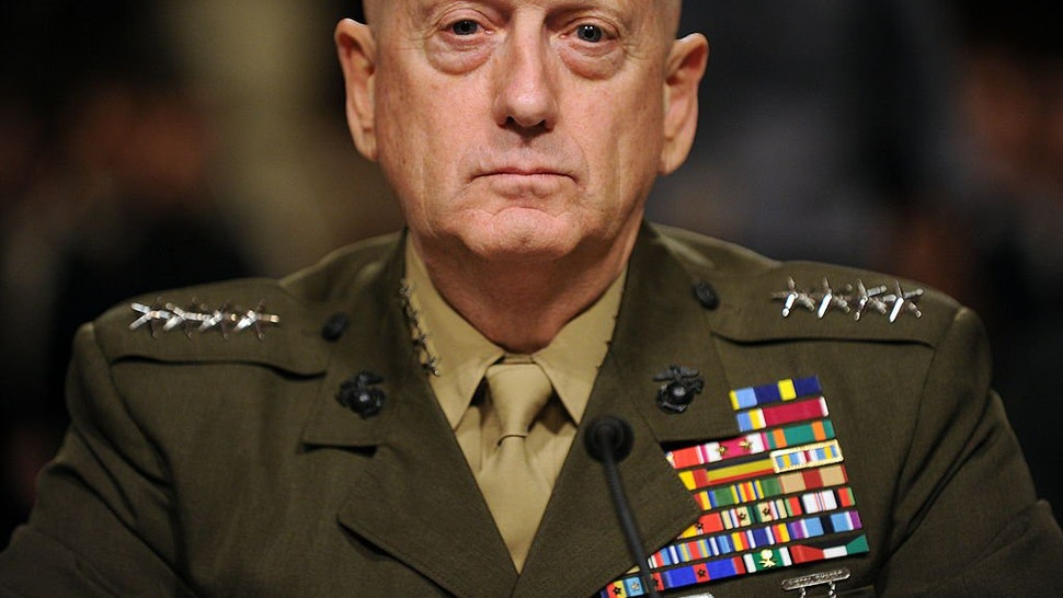 US Marine Corps General James Mattis waits to testify before the Senate Armed Service Committee for his reappointment to the grade of general and to be commander of the United States Central Command or CENTCOM on July 27, 2010 on Capitol Hill in Washingto