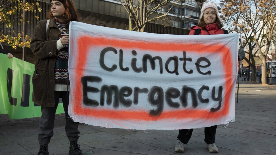 """Environmental activists warn about the """"climate emergency."""""""