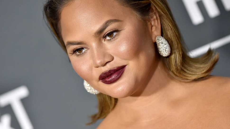 SANTA MONICA, CA - JANUARY 13: Chrissy Teigen attends the 24th annual Critics' Choice Awards at Barker Hangar on January 13, 2019 in Santa Monica, California.