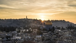 JERUSALEM - (ARCHIVE) : A photo taken by Anadolu Agency photojournalist Mostafa Alkharouf on October 05, 2018 shows Haram al-Sharif (Temple Mount), including Qubbat al-Sakhrah (Dome of the Rock) of Al-Aqsa Mosque Compound during the sunrise in Jerusalem. The Israeli authorities are trying to deport Anadolu Agency photojournalist Mostafa Alkharouf (32), who lives in East Jerusalem, allegedly for not holding a residence permit. Kharouf, has been detained by Israeli forces for 33 days at Israel's Givon Prison. He is being forced to sign the necessary documents to be deported from East Jerusalem to Jordan.