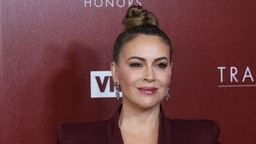 Alyssa Milano attends the VH1 Trailblazer Honors held at The Wilshire Ebell Theatre on February 20, 2019 in Los Angeles, California.