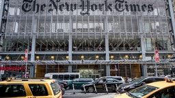 The New York Times building in the west side of Midtown Manhattan.