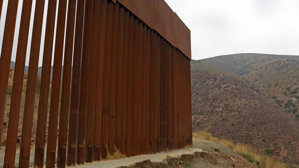 View of a section where the US-Mexico border fence ends as seen from Tijuana, Baja California state, Mexico, on June 18, 2019.
