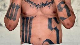 Former MS-13 gang leader Valmis Mejia a.k.a. 'el Bambi', is pictured at Santa Ana prison, 60 km northwest of San Salvador, on May 21, 2019.