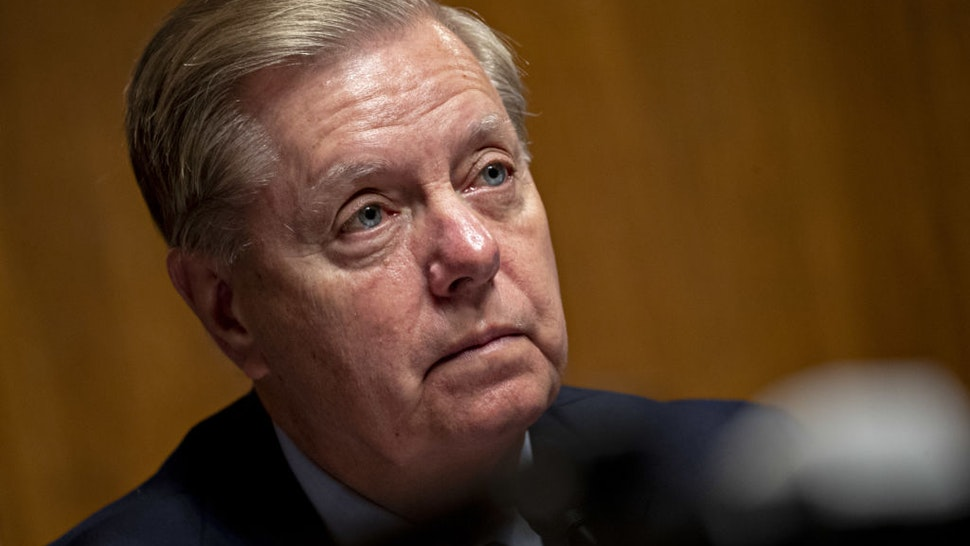 Senator Lindsey Graham, a Republican from South Carolina and chairman of the Senate Judiciary Committee, listens during a hearing with Christopher Wray, director of the Federal Bureau of Investigation (FBI), not pictured, in Washington, D.C., U.S., on Tuesday, July 23, 2019. Wray said during the hearing that China is the biggest counterintelligence threat to the U.S.